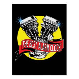 Biker Alarm Clock Post Cards