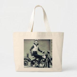 Biker Babe Tote Bags