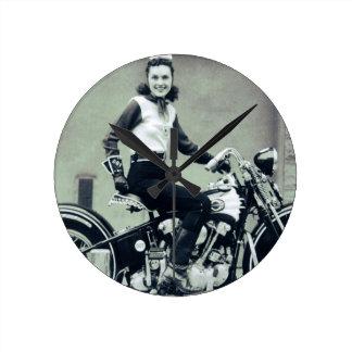 Biker Babe Clock