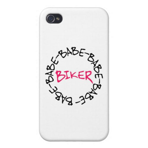 Biker Babe iPhone 4 Cover