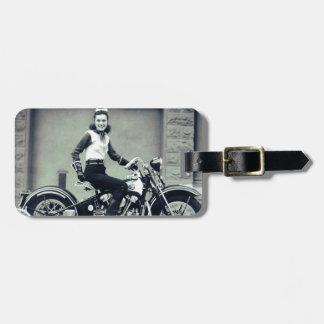Biker Babe Luggage Tags