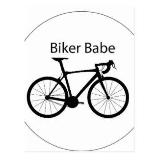 """""""Biker Babe"""" Postcard"""