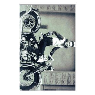 Biker Babe Stationery