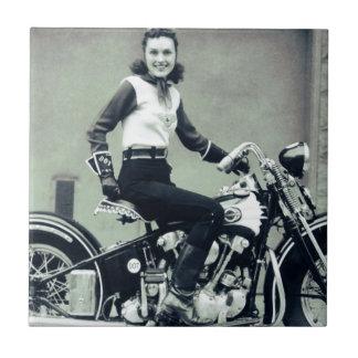 Biker Babe Tiles