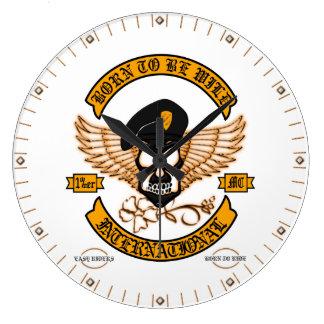 Biker Badge Wall Clock
