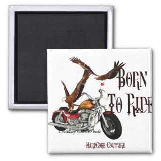 Biker Born To Ride 1 Refrigerator Magnet