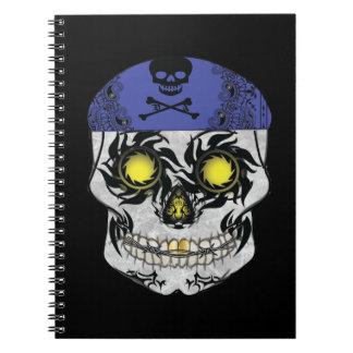 Biker Candy Skull Notebook