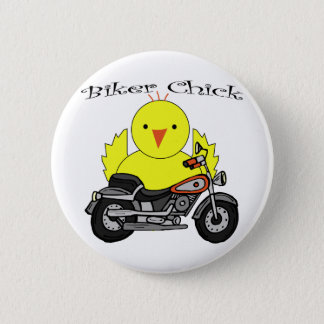 Biker Chick 6 Cm Round Badge