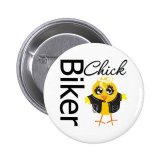 Biker Chick 6 Cm Round Badge