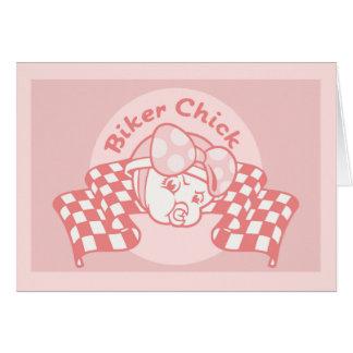 Biker Chick 914 Greeting Card
