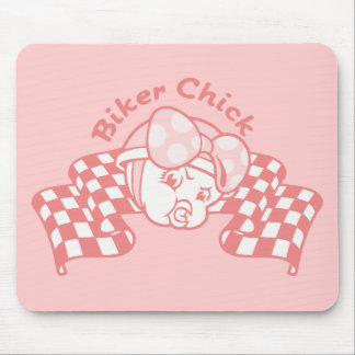 Biker Chick 914 Mouse Pad