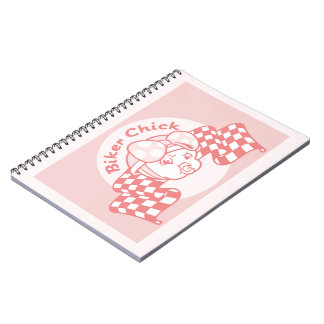 Biker Chick 914 Spiral Note Books