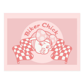Biker Chick 914 Postcard