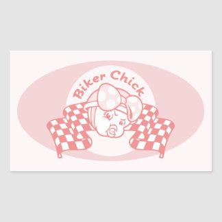 Biker Chick 914 Rectangular Sticker