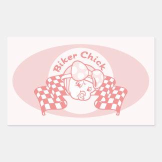 Biker Chick 914 Rectangular Sticker
