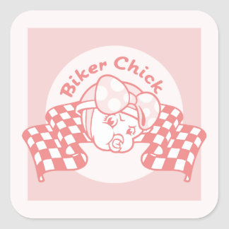 Biker Chick 914 Stickers