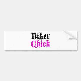 Biker Chick Bumper Sticker