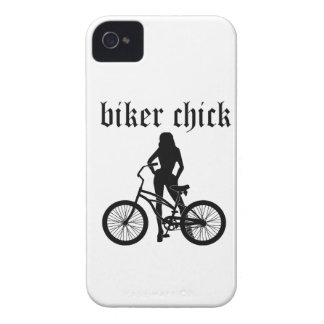 """""""Biker chick"""" female silhouette with bicycle! iPhone 4 Cover"""