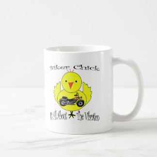 Biker Chick Classic White Coffee Mug