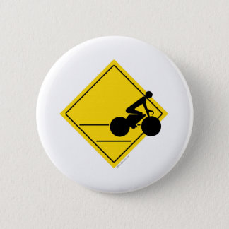 Biker Crossing 6 Cm Round Badge