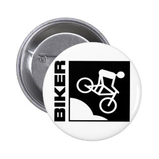 biker cyclist bike mtb mountainbike downhill 6 cm round badge
