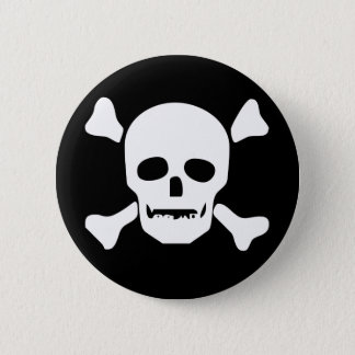 Biker Death Skull 6 Cm Round Badge