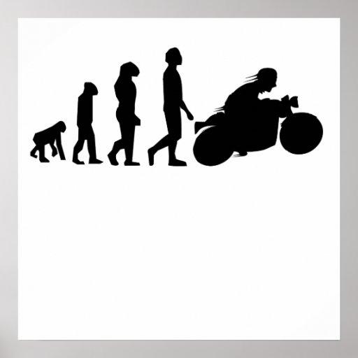 Biker Evolution Motorcycle Print