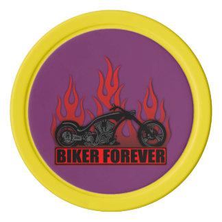 Biker Forever Poker Chips