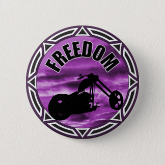 Biker Freedom 6 Cm Round Badge
