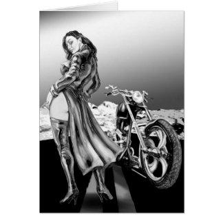 biker girl cards