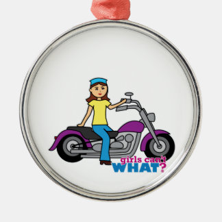 Biker Girl Christmas Ornament