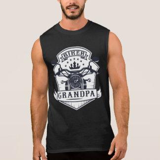 Biker Grandpa Badge Motorcycle Rider Sleeveless Shirt