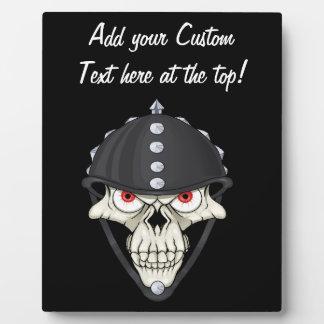 Biker Helmet Skull design for Motorcycle Riders Display Plaque