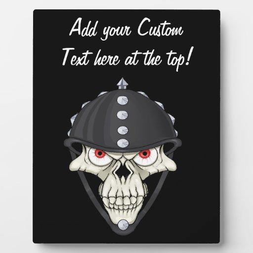 Biker Helmet Skull design for Motorcycle Riders Display Plaques