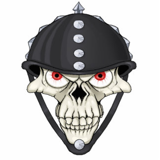 Biker Helmet Skull design for Motorcycle Riders Standing Photo Sculpture