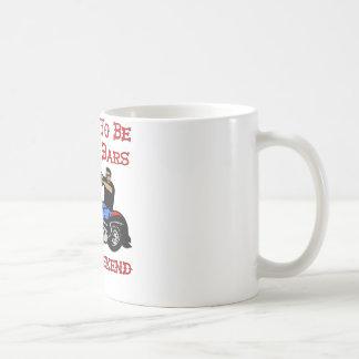 Biker I Plan On Being Behind Bars This Weekend Basic White Mug