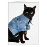 biker kitty greeting card