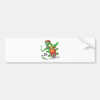 Biker Lizard Bumper Sticker
