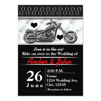 Biker Motorcycle Wedding Event Invitations