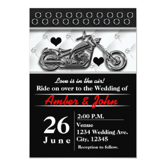 Biker Motorcycle Wedding Event Invitations