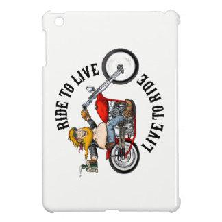 biker motorcyclist wrinkles to live iPad mini covers