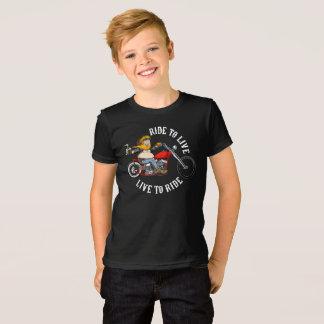 biker motorcyclist wrinkles to live T-Shirt