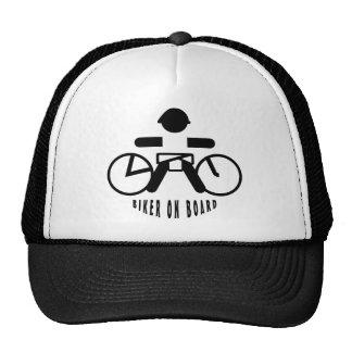 Biker on board trucker hat