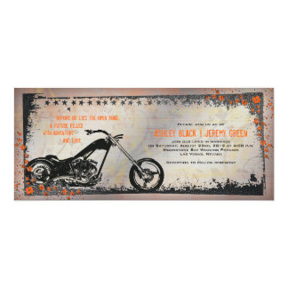 Biker or Motorcycle Wedding Invitation
