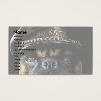 Biker Pug Business Card