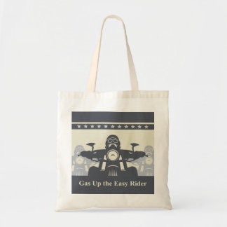 Biker Rally Easy Rider Tote Bag, Motorcycle Themed Budget Tote Bag