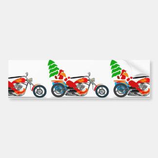 Biker Santa Bumper Sticker