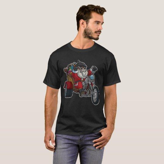 Biker Santa Claus Motorcycle Christmas T-Shirt