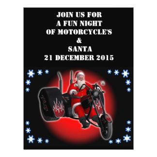 Biker Santa is coming to town 21.5 Cm X 28 Cm Flyer