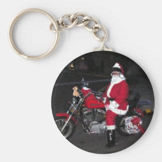 Biker Santa Key Ring